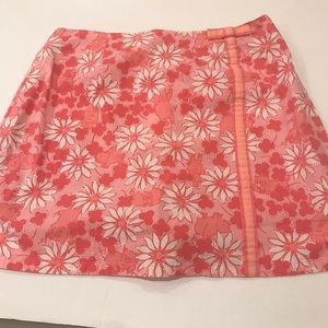 Lilly Pulitzer Skorts Pink Floral & Pigs. Size 2